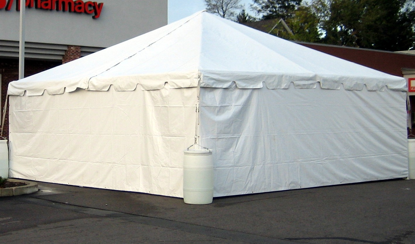 20 x 20 Heavy Duty Canopy W_Side Walls & Canopies - Party Rental CA