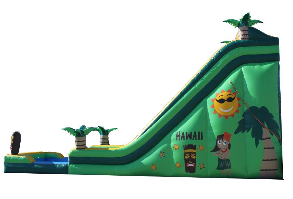 Hawaiian Water Slide Side Party Rental Ca